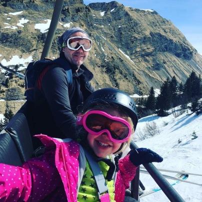 Ella and Nigel Ski Lift