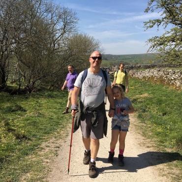 Start of the walk on the Pennine Way